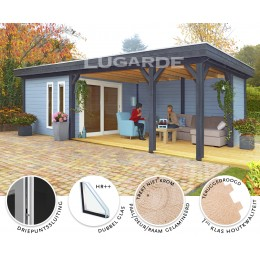 Lugarde Tuinhuis Springfield- 350x822cm - 28mm - pro-systeem - ps06